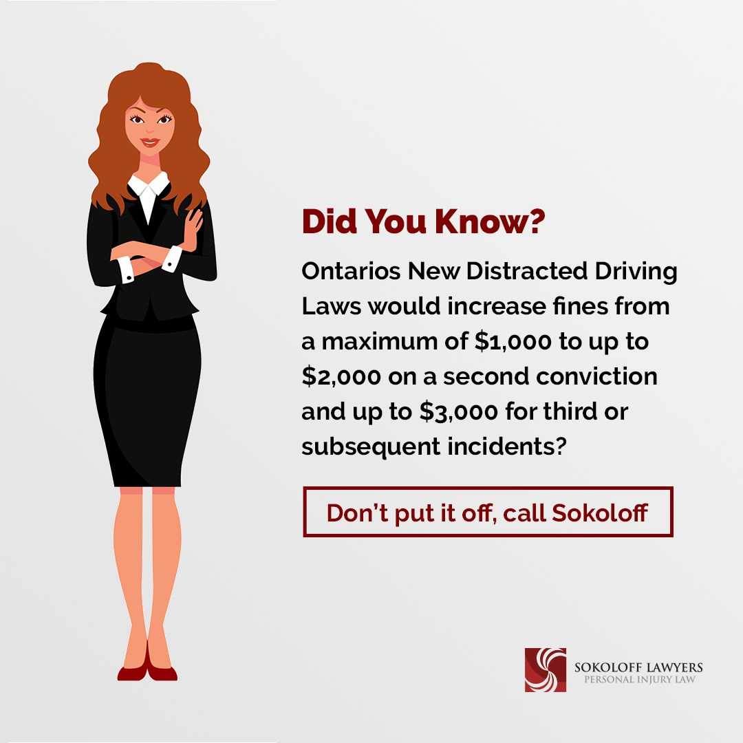 Sokoloff Lawyers - Ontarios Distracted Driving Laws