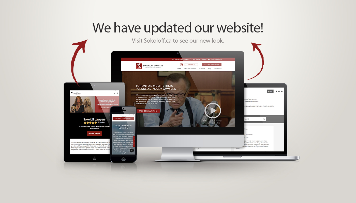 Its Here! - Announcing the Launch of the Sokoloff Lawyers Newly Redesigned Website
