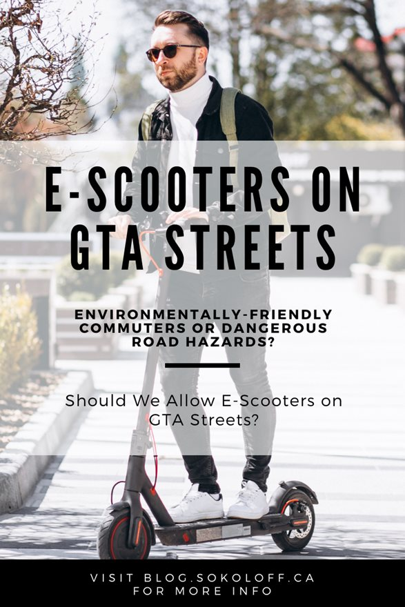 E-Scooters in Toronto Should They be Allowed