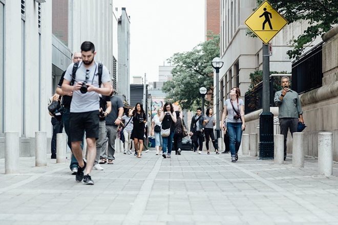 Should Texting While Walking Be Banned