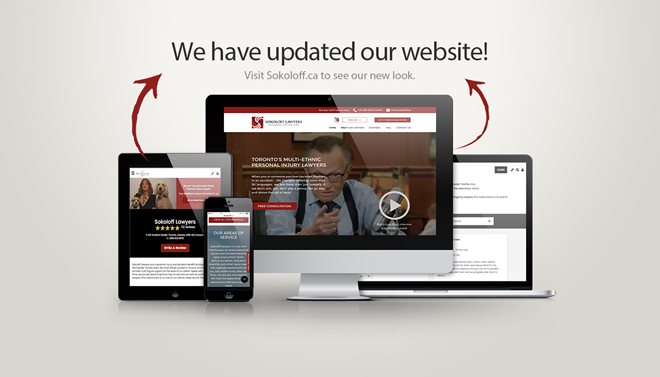 Its Here - Announcing the Launch of the Sokoloff Lawyers Newly Redesigned Website