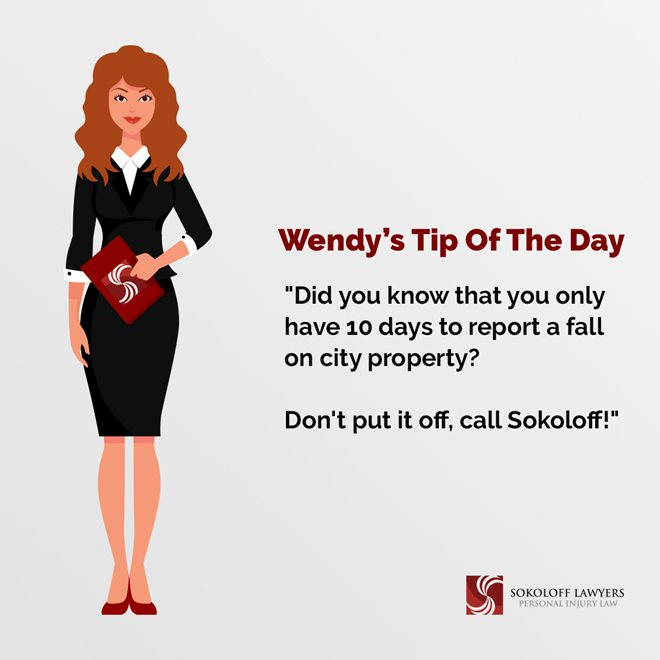 Did You Know That You Only Have 10 Days to Report a Fall on City Property